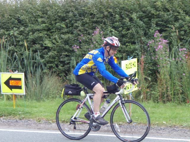 Secretary Mike Wigley on his bike